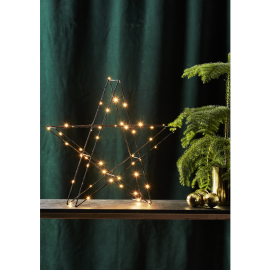 LED gaismas dekors zvaigzne uz baterijām melns 0,9W 45x43cm Super 700-47