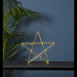 LED gaismas dekors zvaigzne uz baterijām zelta 0,5W 25x25cm Super 700-56