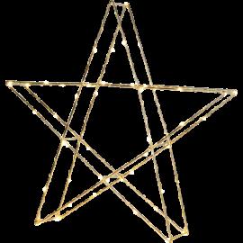 LED gaismas dekors zvaigzne uz baterijām zelta 0,9W 45x43cm Super 700-58