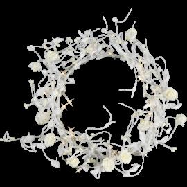 Vainags Dekoratīvais ar LED lampiņām Rose 581-13