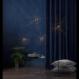 LED Gaismas dekors salūts karināms melns 3W 45x45cm Firework 710-03-1
