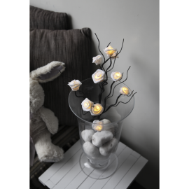 LED Gaismas dekors rožu krūms uz baterijām 0,3W 10x50cm Rosy 581-30