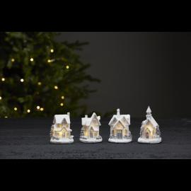 LED Ziemassvētku gaismas dekori uz baterijām 12gab. 0,6W Smallville 990-99-85