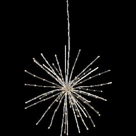 LED Gaismas dekors salūts karināms sudraba 3W 45x45cm Firework 710-07-1