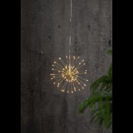 LED Gaismas dekors salūts karināms sudraba 16x16cm Firework 710-10