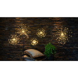 LED Gaismas dekors salūts karināms melns 16x16cm Firework 710-14
