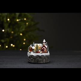 LED Ziemassvētku gaismas dekors uz baterijām 0,18W 12x12cm Trainville 992-14