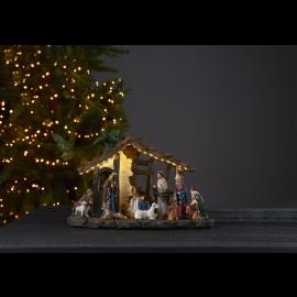 LED Ziemassvētku gaismas dekors uz baterijām 0,76W 37x25cm Nativity 680-87