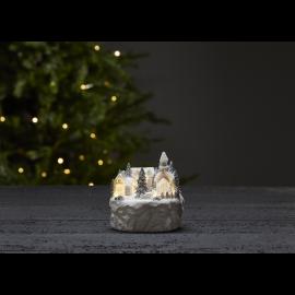 LED Ziemassvētku gaismas dekors uz baterijām 0,18W 12x12cm Trainville 992-15
