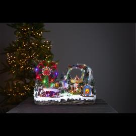 LED Ziemassvētku gaismas dekors uz baterijām AA 3,6W 54x36cm Largeville 680-88