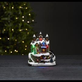 LED Ziemassvētku gaismas dekors uz baterijām 0,18W 19x22cm Trainville 992-18