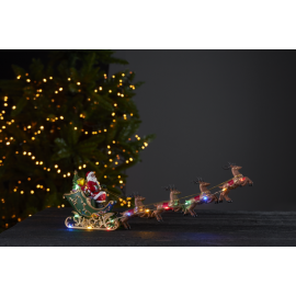 LED Ziemassvētku gaismas dekors uz baterijām 0,45W 48x17cm Deerville 992-31