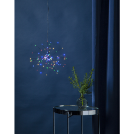 Gaismas dekors salūts karināms multi 120 LED 1,8W 26x26cm Firework 710-08