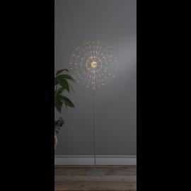 Gaismas dekors salūts uz statīva sudraba 200LED 3W 45x130cm Firework 710-09-1