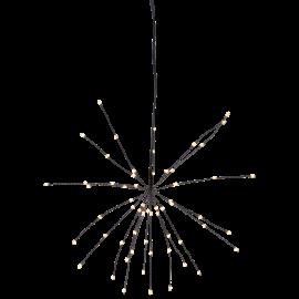 LED gaismas dekors salūts karināms melns AA 0,6W 26x26cm Firework 710-15