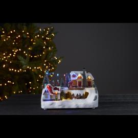 LED Ziemassvētku gaismas dekors uz baterijām 0,48W 29x20cm Deerville 992-32