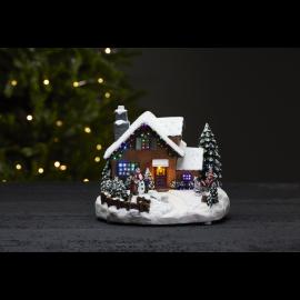 LED Ziemassvētku gaismas dekors uz baterijām 0,18W 23x18,5cm Winterville 992-16