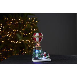 LED Ziemassvētku gaismas dekors uz baterijām 0,18W 16x25cm Merryville 992-33