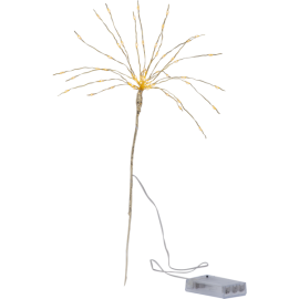 LED gaismas dekors salūts zelta AA 0,6W 25x42cm Firework 710-33