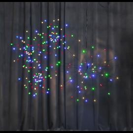 LED gaismas dekors salūts karināms melns AA 0,6W 26x26cm Firework 710-16