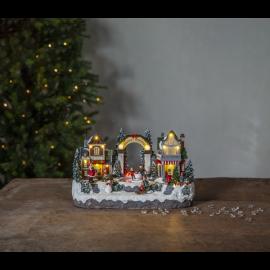 LED Ziemassvētku gaismas dekors uz baterijām AA 0,9W 32x19cm Iceville 992-42