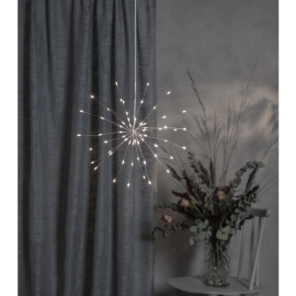 LED gaismas dekors salūts karināms sudraba AA 0,6W 26x26cm Firework 710-17