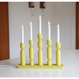 LED Koka Lampiņu Svečturis 196-00