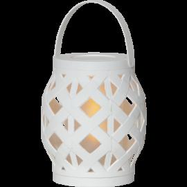 LED laterna uz baterijām balta AAA 0,15W 13x16cm Flame lantern 062-15
