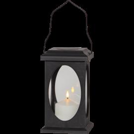 LED gaismas dekors laterna melna AAA 0,03W 13,5x23cm Flamme 062-79