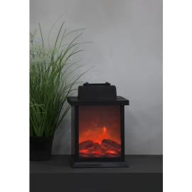 LED laterna uz baterijām melna C 0,09W 15x21cm Fireplace 062-67