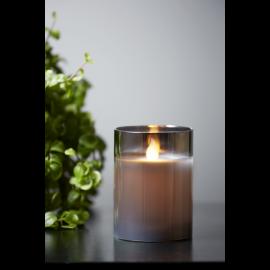 LED vaska svece glāzē uz baterijām melna AA 0,06W 7,5x10cm M-Twinkle 063-26