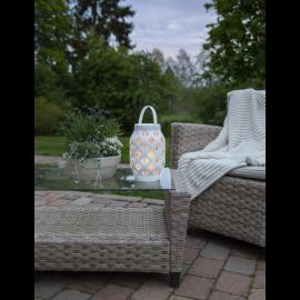 LED laterna uz baterijām balta AAA 0,15W 15x23cm Flame lantern 062-16