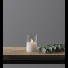 LED vaska svece glāzē uz baterijas balta 0,06W 5x7,5cm M-Twinkle 063-13
