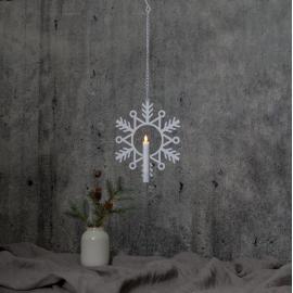 LED Ziemassvētku gaismas dekors karināms AA 0,3W 24x29cm Flamme snow 063-56