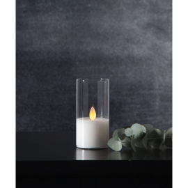 LED vaska svece glāzē uz baterijas balta 0,06W 5x10cm M-Twinkle 063-14