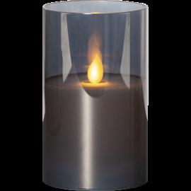 LED vaska svece glāzē uz baterijām melna AA 0,06W 7,5x12,5cm M-Twinkle 063-27