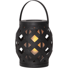 LED laterna uz baterijām melna AAA 0,15W 13x16cm Flame lantern 062-17