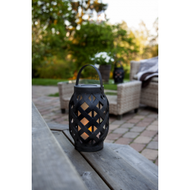LED laterna uz baterijām melna AAA 0,15W 15x23cm Flame lantern 062-18
