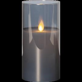 LED vaska svece glāzē uz baterijām melna AA 0,06W 7,5x15cm M-Twinkle 063-28