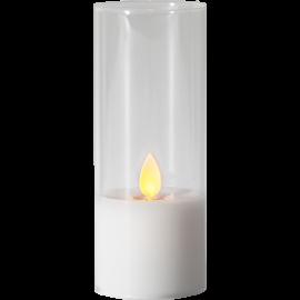 LED vaska svece glāzē uz baterijas balta 0,06W 5x7,5cm M-Twinkle 063-15