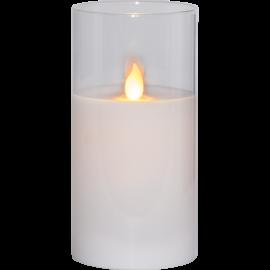 LED vaska svece glāzē uz baterijām balta AA 0,06W 7,5x15cm M-Twinkle 063-16