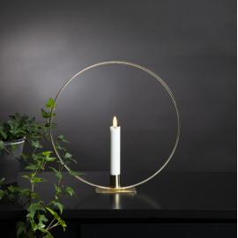 Galda dekorācija ar LED sveci zelta AA 0,06W 28,5x28cm Falmme table 063-45