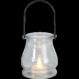 Laterna ar LED sveci caurspīdīga 0,06W 8,5x9,5cm 062-80