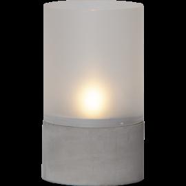 LED vaska svece glāzē uz baterijām pelēka AAA 0,03W 10x18cm Cemmy 064-87