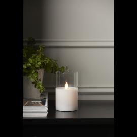 LED vaska svece glāzē uz baterijām balta AA 0,06W 7,5x12,5cm M-Twinkle 063-17