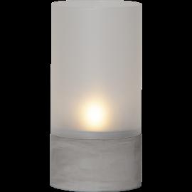 LED vaska svece glāzē uz baterijām pelēka AAA 0,03W 10x21cm Cemmy 064-88
