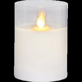 LED vaska svece glāzē uz baterijām balta AA 0,06W 7,5x10cm M-Twinkle 063-18