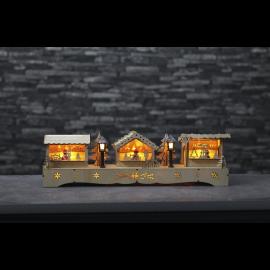 Koka LED Dekors Lāzergriezts 270-77