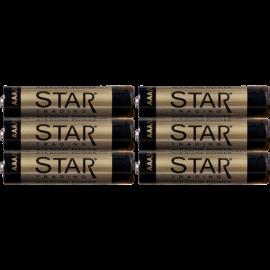 Baterijas 6gab. AAA 1,5V power alkaline 064-72