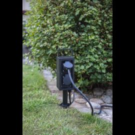 Pagarinātājs sadalītājs melns x4 200cm 9x35cm Plugge 418-97